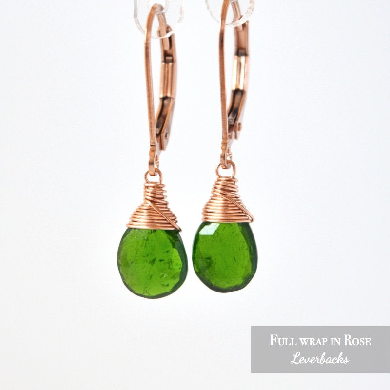 Chrome Diopside Earrings - Boutique Baltique
