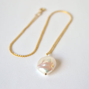 Baroque Coin Pearl Pendant Necklace - Boutique Baltique