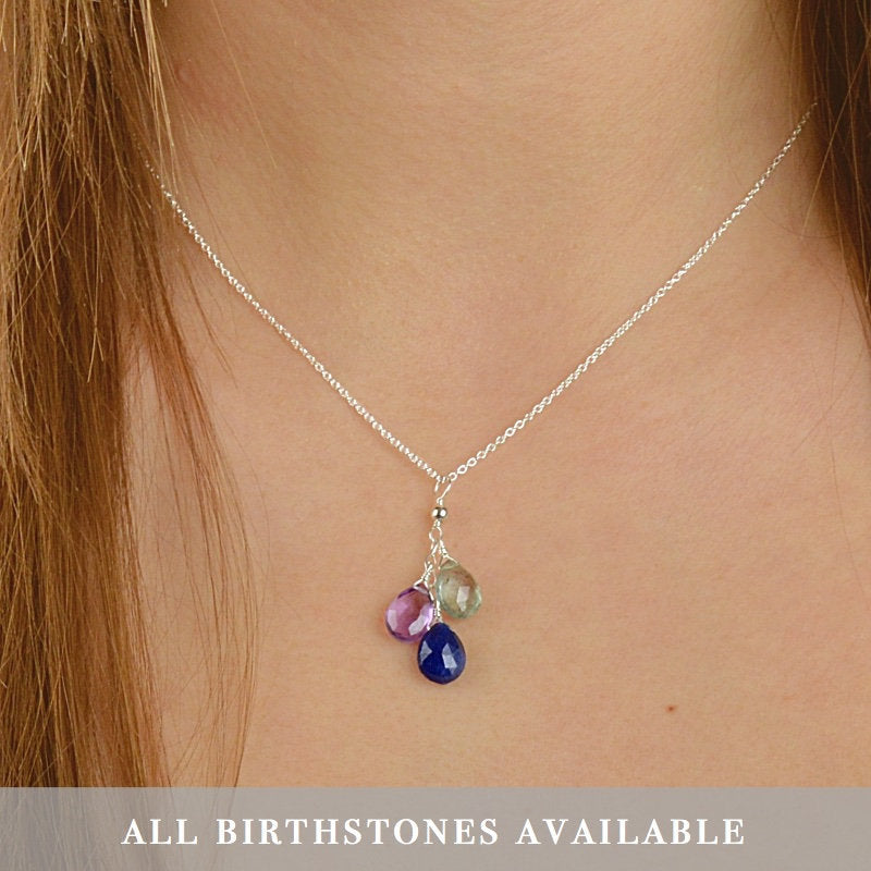 Family Birthstone Necklace
