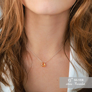 Citrine necklace Bella - Boutique Baltique