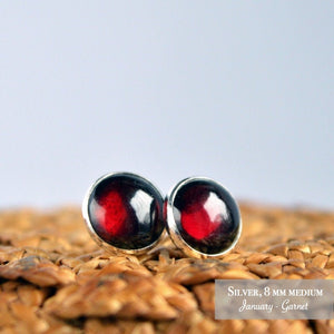 Rhodolite Garnet Stud Earrings - Boutique Baltique