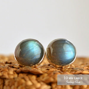 Labradorite Stud Earrings - Boutique Baltique