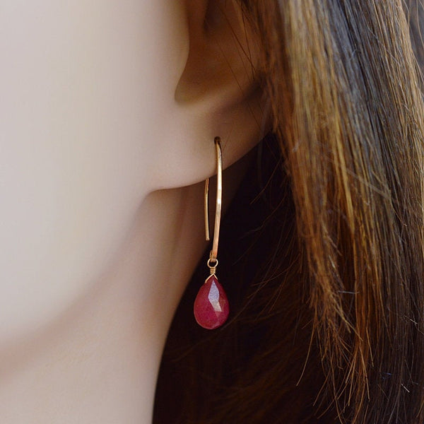 Ruby Earrings Bella - Boutique Baltique