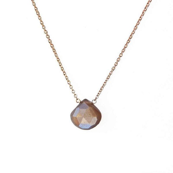 Chocolate Moonstone Necklace - Boutique Baltique