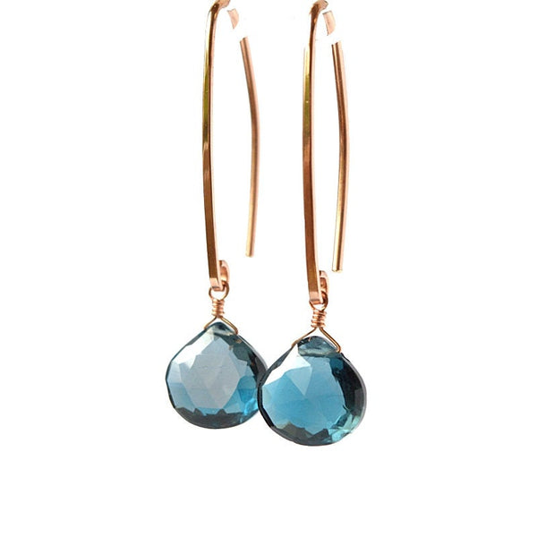 London Blue Topaz Earrings - Boutique Baltique