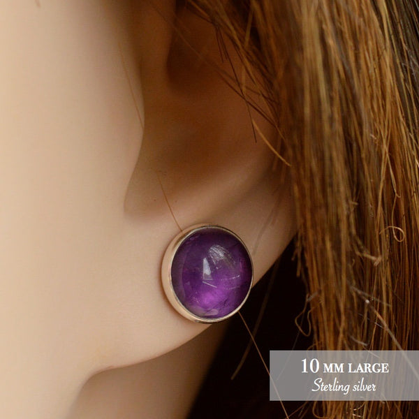 Amethyst Stud Earrings - Boutique Baltique
