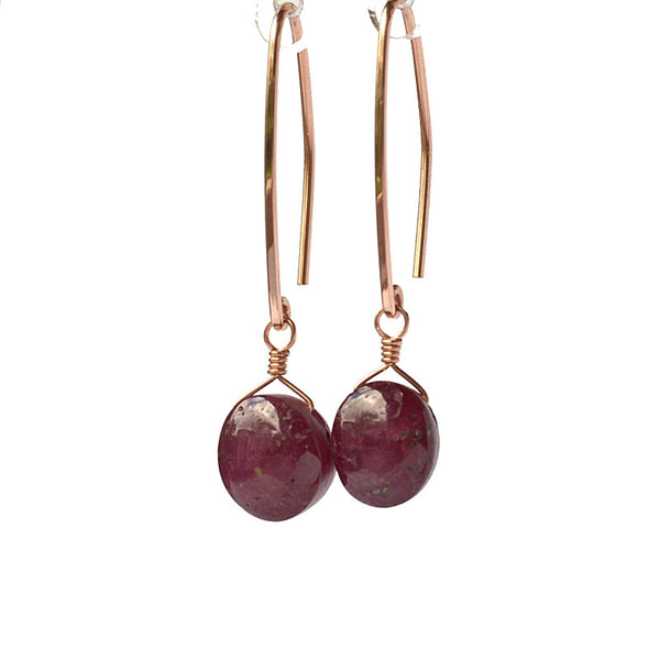 Star Ruby Earrings - Boutique Baltique