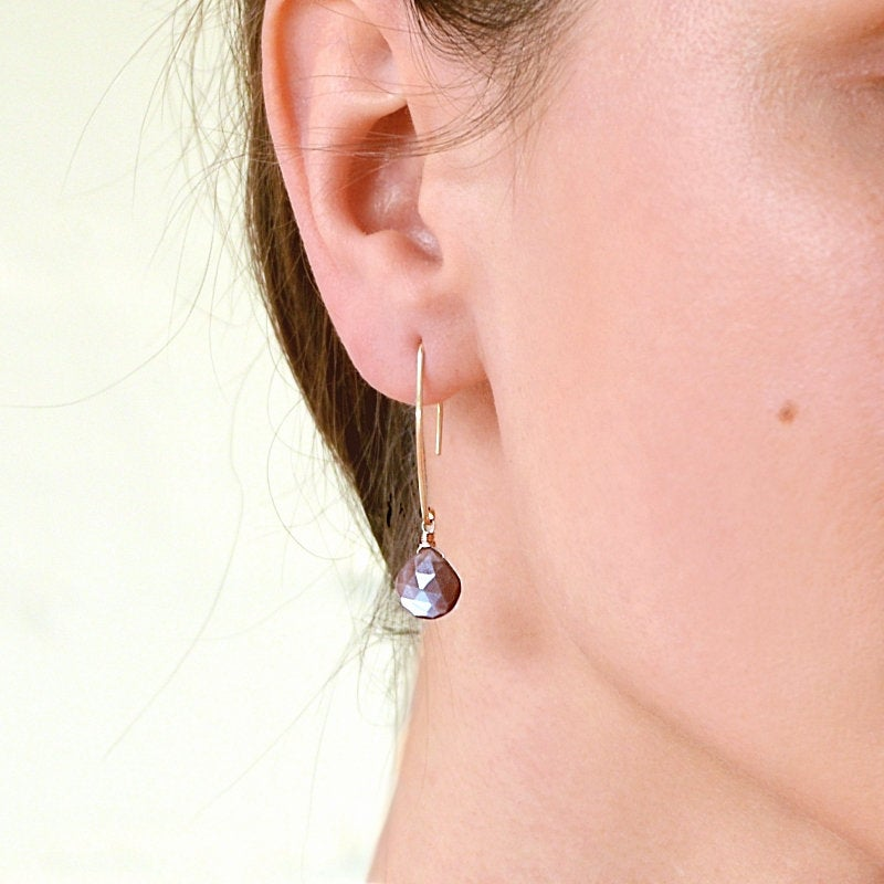 Chocolate Moonstone Earrings - Boutique Baltique