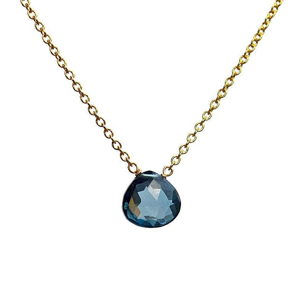 London Blue Topaz Necklace - Boutique Baltique