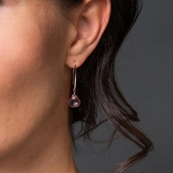 Pink Topaz Earrings - Boutique Baltique