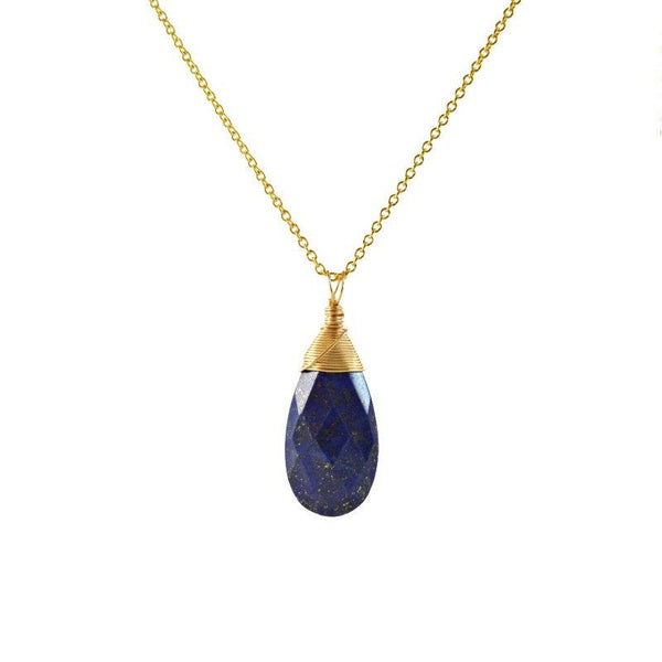 Large Lapis Lazuli Pendant Necklace - Boutique Baltique