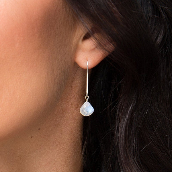 Rainbow Moonstone Earrings - Boutique Baltique