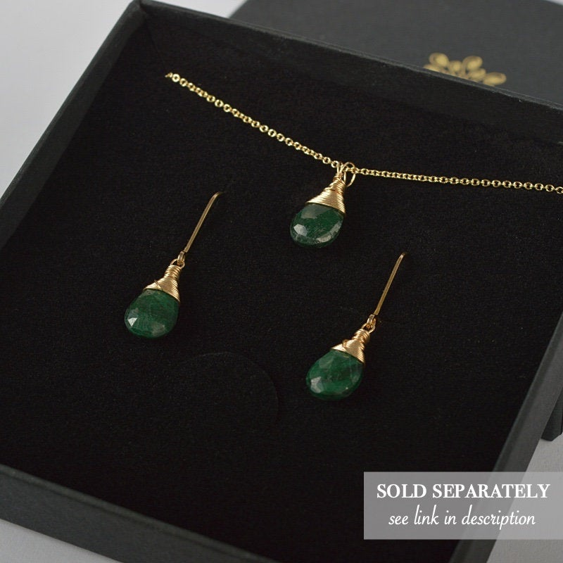 Emerald Earrings Bella - Boutique Baltique