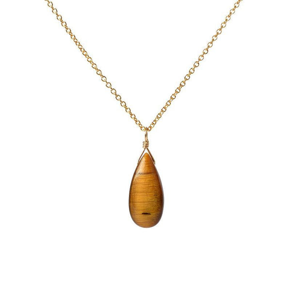 Tiger Eye Pendant Necklace - Boutique Baltique