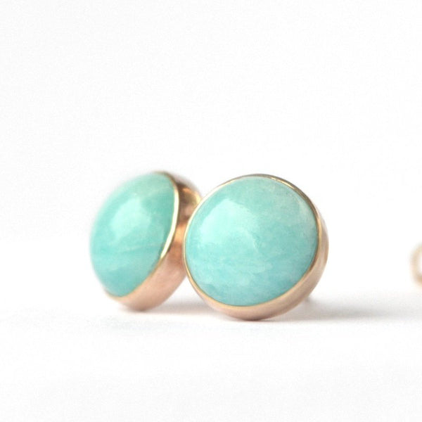 Amazonite Stud Earrings - Boutique Baltique