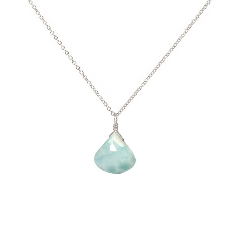 Dominican Larimar Pendant Necklace - Boutique Baltique