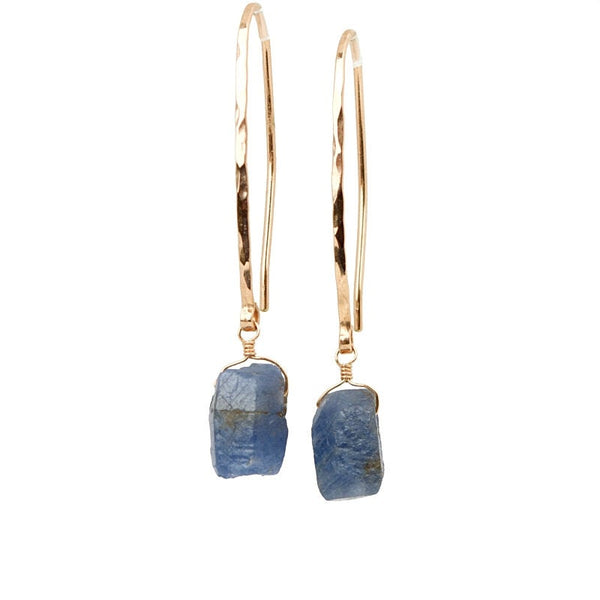 Raw Blue Sapphire Earrings - Boutique Baltique