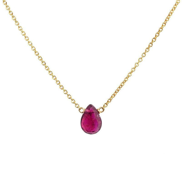 Tiny Pink Rubellite Tourmaline Necklace - Boutique Baltique