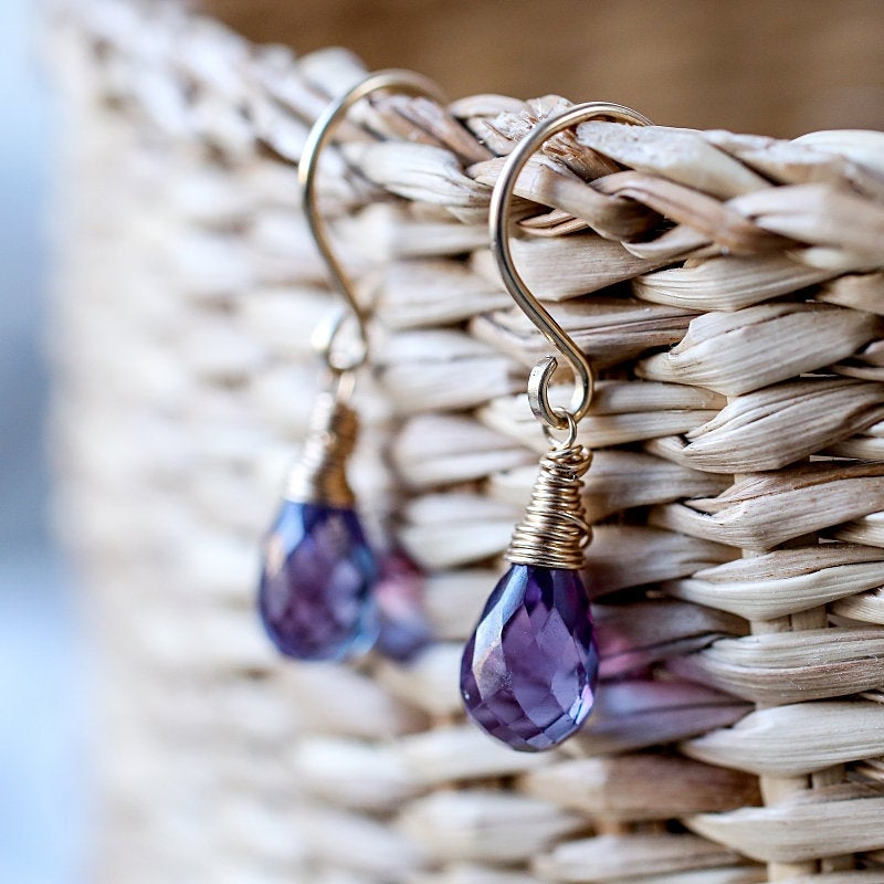 Alexandrite Earrings, Color Changing - Boutique Baltique