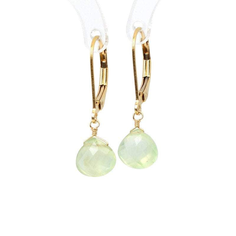 Prehnite Dangle Earrings - Boutique Baltique