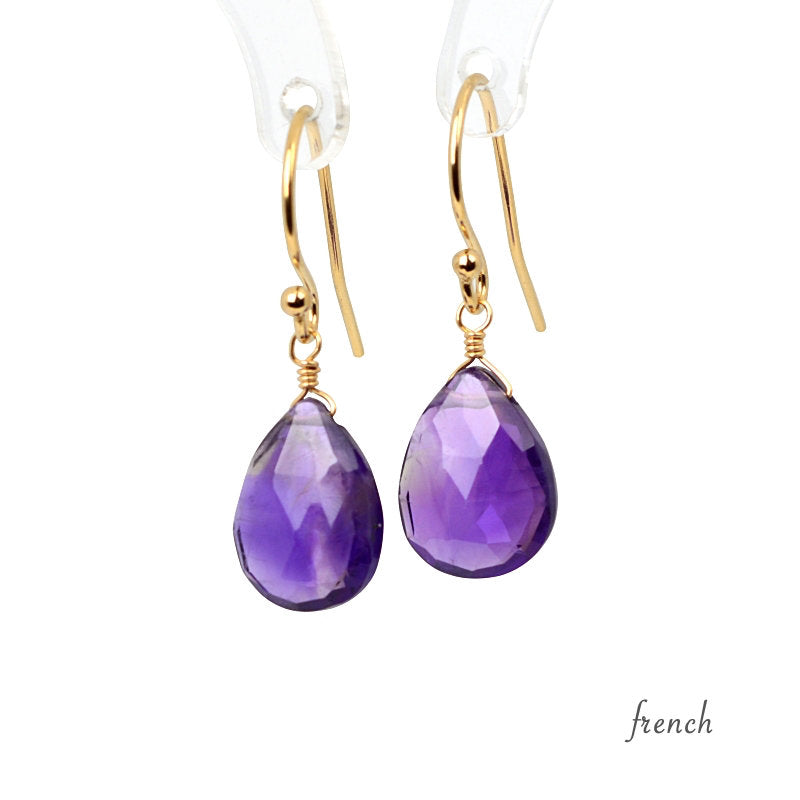 Amethyst Earrings Bella - Boutique Baltique