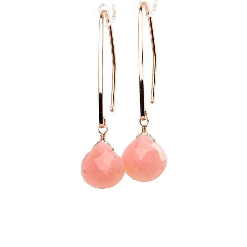 Pink Opal Earrings - Boutique Baltique