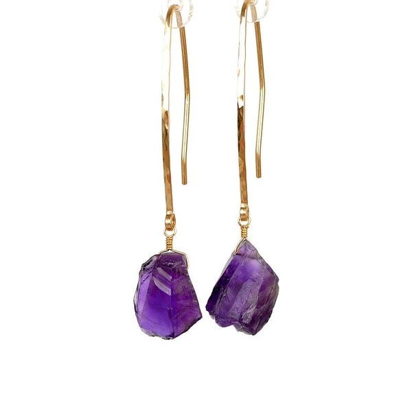 Raw Amethyst Earrings - Boutique Baltique