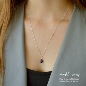 Blue Sapphire Pendant Necklace - Boutique Baltique