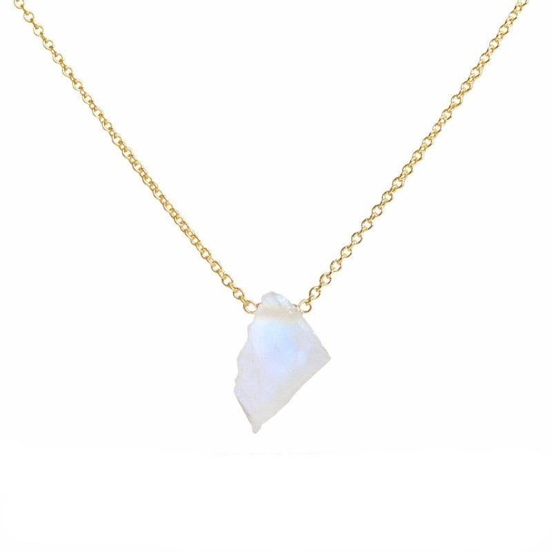 Raw Rainbow Moonstone necklace - Boutique Baltique