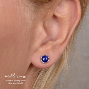 Lapis Lazuli Stud Earrings - Boutique Baltique