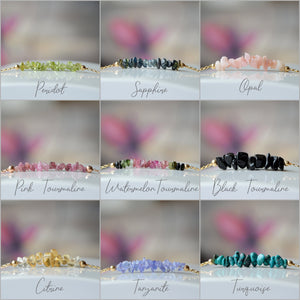 Raw Birthstone Bracelets for August September October November December