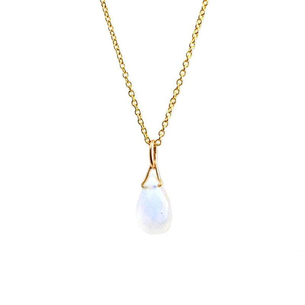 Rainbow Moonstone Drop Necklace - Boutique Baltique