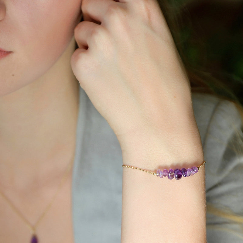 Raw Amethyst Bracelet - Jewlery by Boutique Baltique
