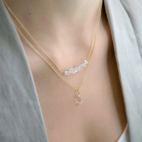 Raw Rock Crystal Jewlery - Handmade by Boutique Baltique