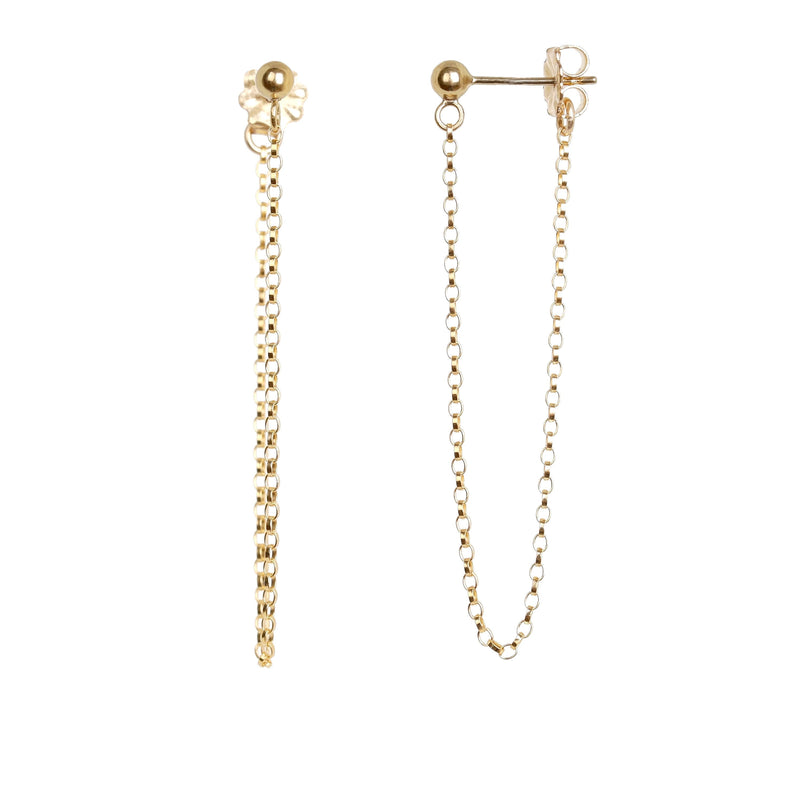 Long Chain Earrings - Boutique Baltique