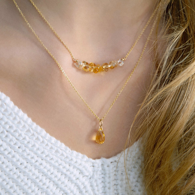 Raw Citrine Jewlery by Boutique Baltique