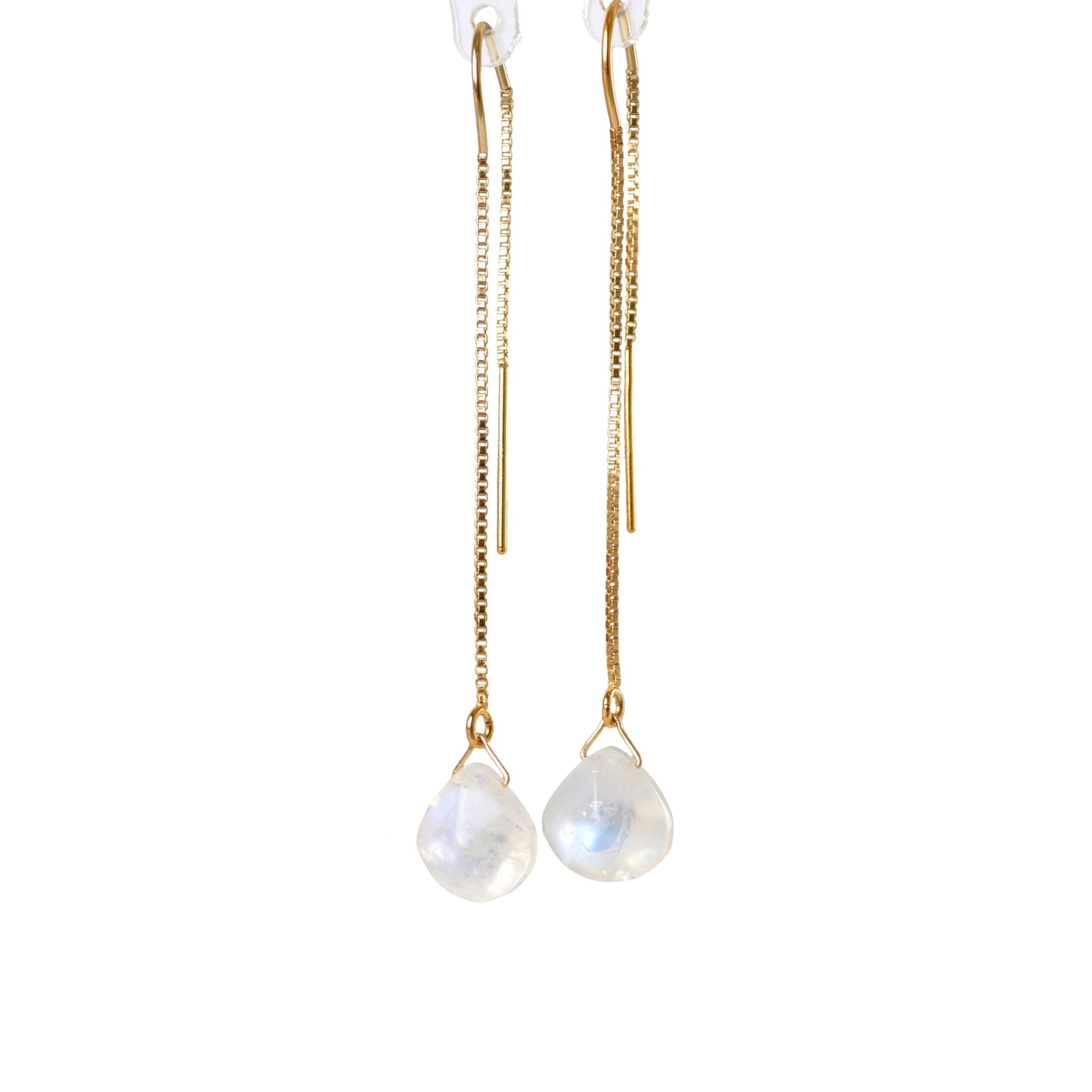 Rainbow Moonstone Threader Earrings - Boutique Baltique