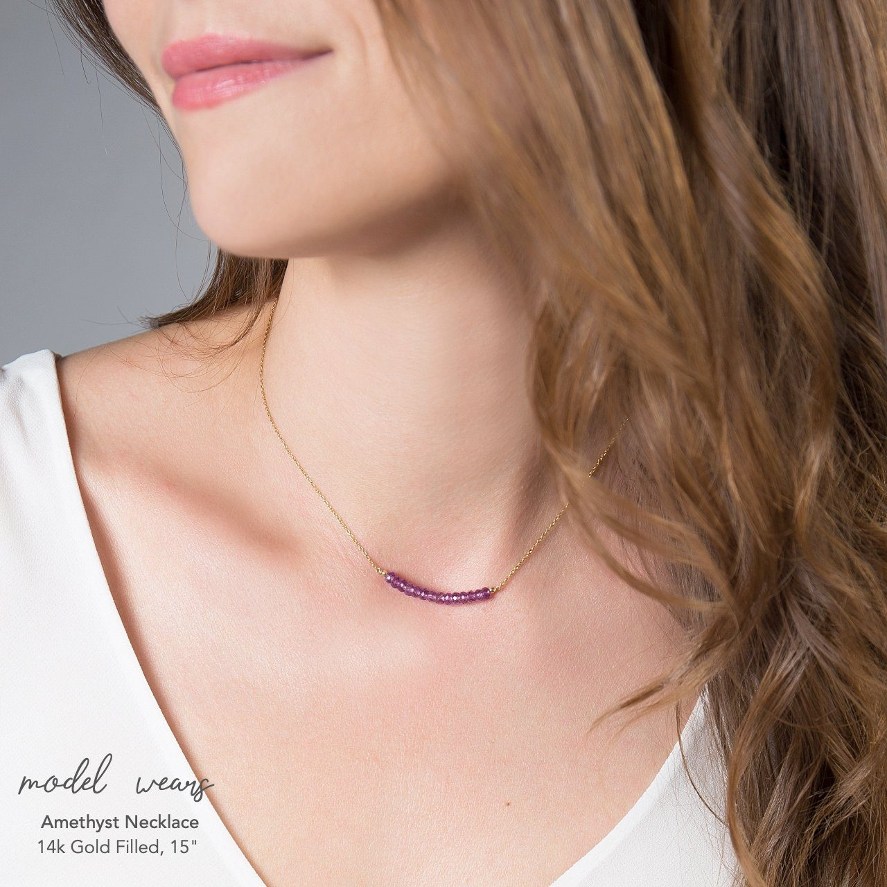 Amethyst Bar Necklace - Boutique Baltique