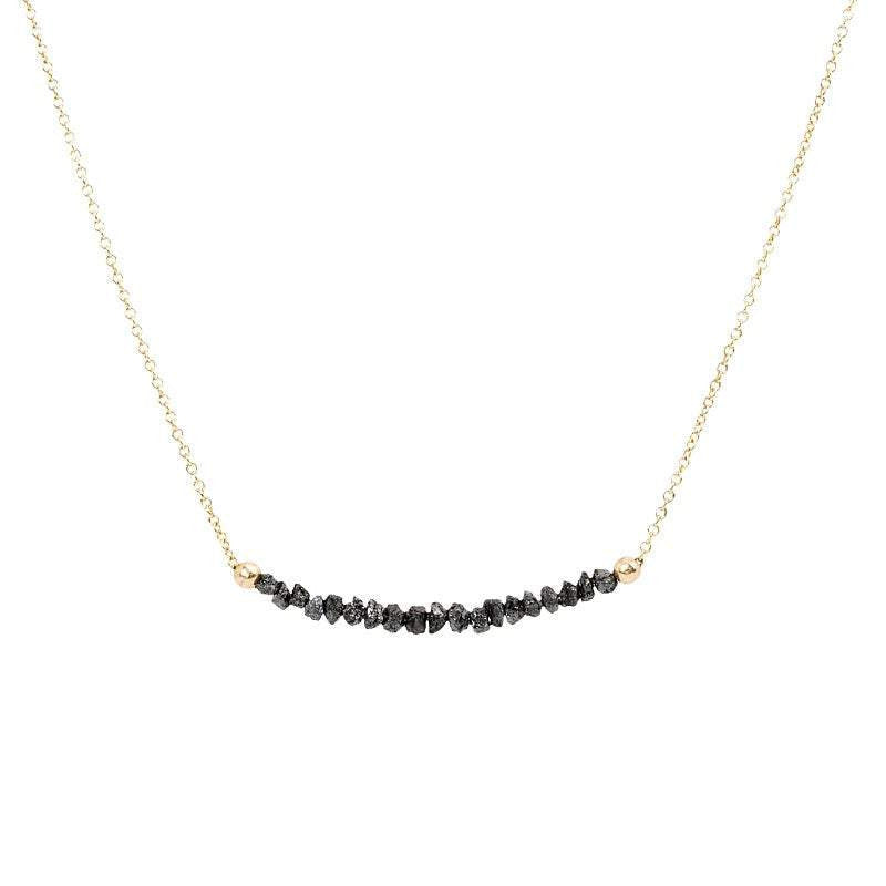 Black Diamond Bar Necklace - Boutique Baltique