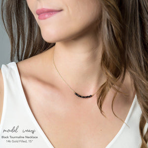 Black Tourmaline Bar Necklace - Boutique Baltique