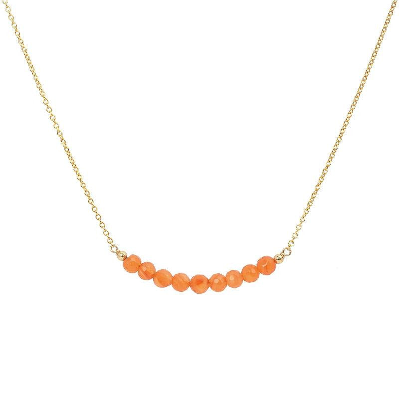Carnelian Bar Necklace - Boutique Baltique