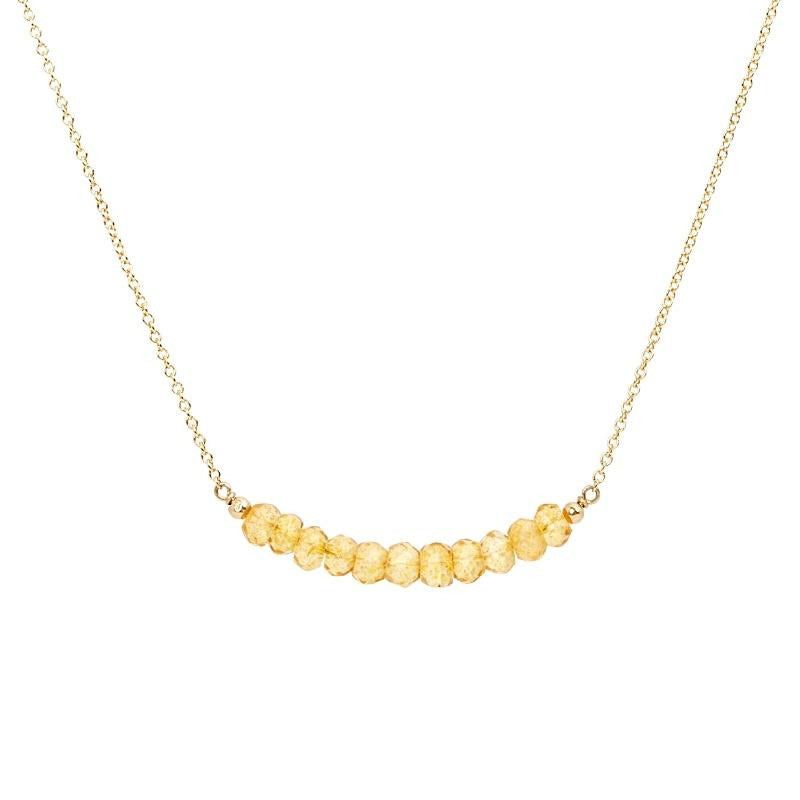 Citrine Bar Necklace - Boutique Baltique