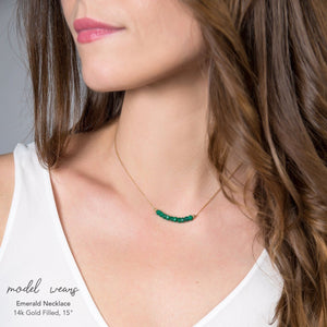 Emerald Bar Necklace - Boutique Baltique
