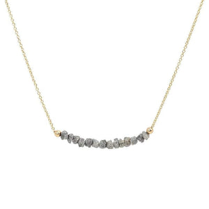Gray Diamond Bar Necklace, Salt&Pepper - Boutique Baltique
