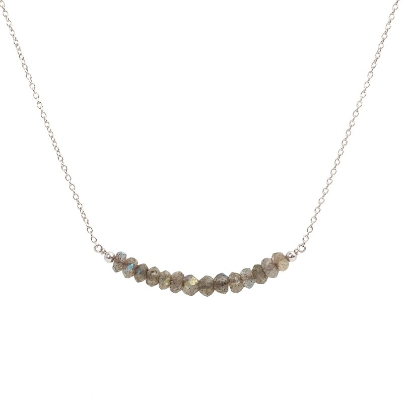 Labradorite Bar Necklace - Boutique Baltique