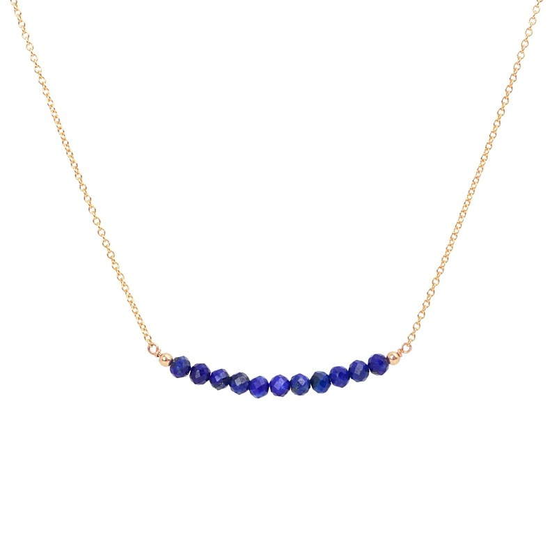 Lapis Lazuli Bar Necklace - Boutique Baltique