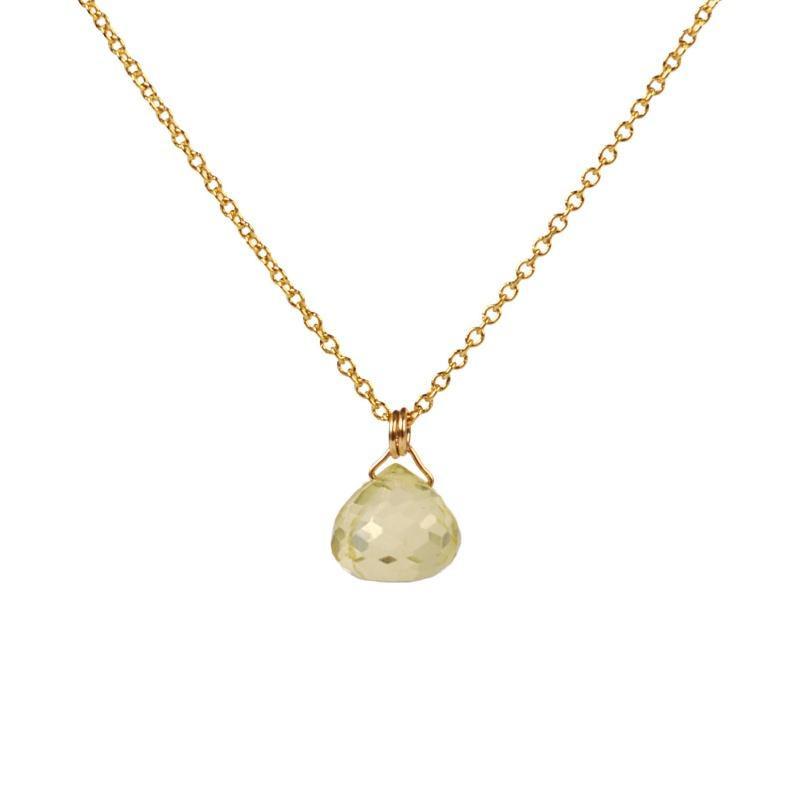 Lemon Quartz Necklace - Boutique Baltique