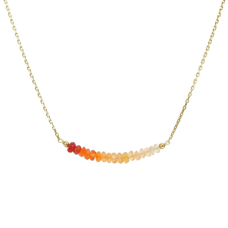 Mexican Fire Opal Necklace - Boutique Baltique