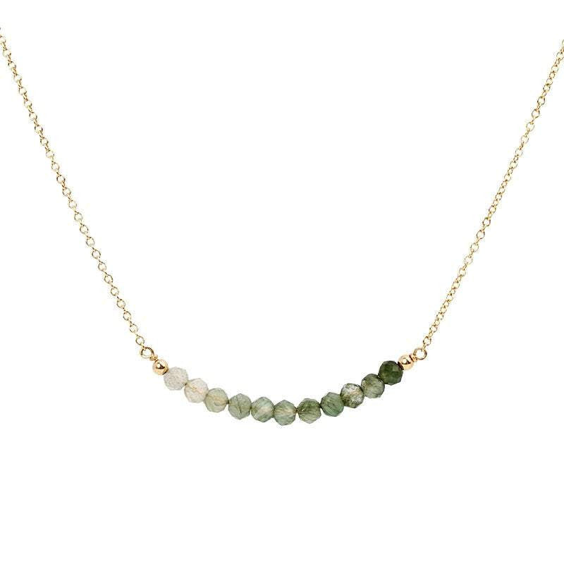 Moss Aquamarine Bar Necklace - Boutique Baltique