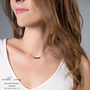 Ombre Emerald Bar Necklace - Boutique Baltique